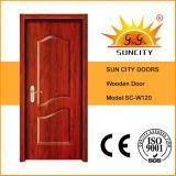 China Factory Timber Wood Single Door Designs (SC-W120)