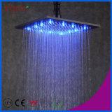 Fyeer Big LED Color Square Black Rainfall Shower Head