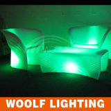 Salon Nightclub Bar LED Lighting Sofa Set