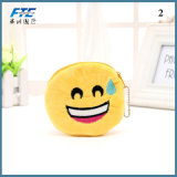 Wholesaler Factory Soft Zipper Emoji Coin Purse