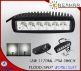 18W 1170lm Auto LED Driving Light for Truck 4X4 Offroad, 6000K IP68 Rhos