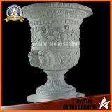 Surface Figure Marble Stone Carving Garden Flower Pot Stand (NS-11P12)