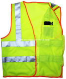 High Visibility Safety Vest with Reflective Tape and Pocket (DFV1075)