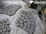 Rusty Brown/Yellow Wood Beige/Black/Grey/Green Slate Meshed Paving and Paver