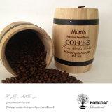 Hongdao Customized Natural Color Wooden Pine Oak Coffee Barrel Wholesale Price _E