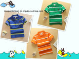 Short Sleeve Striped Lapel Children Polo T-Shirt