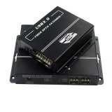 USB3.0 Extender Over Fiber up to 300m Built-in 7-Port USB Hub for Uhd Transmission (HFE-3900)