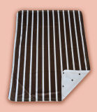 Baby Printed Polyester Mink Blanket Stripe with DOT Pritning (HR01BB026)