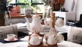English-Style Bone China Tea Set with Flower (LR-0111)