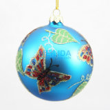 Glowing Plastic Blue Christmas Ball for Decoration