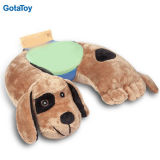 Custom Stuffed Plush Dog Travel Neck Pillow for Kids and Adult
