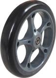 7X1 Black PU Foam Stroller Wheel