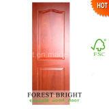 Mahogany Wood Veneer MDF Panel Door