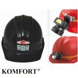 Coal Mine Custom Safety Helmet with Head Lamp Mining Helmet (JMC-422M)