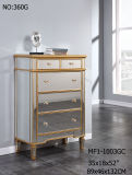 5 Drawer Cabinet Clear Mirrored Furniture