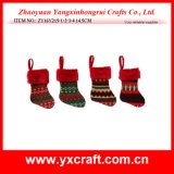 Christmas Decoration (ZY16Y215-1-2-3-4 14.5CM) Small Christmas Sock