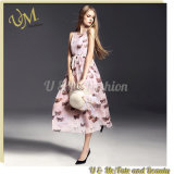 OEM Garment Slim Fit Chiffon Flower Butterfly Girls Long Prom Dress