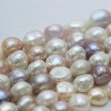 13-14mm Multi-Color Baroque Cultured Large Pearl Strands (E190019)