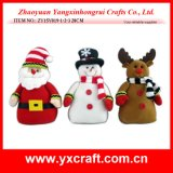 Christmas Decoration (ZY15Y019-1-2-3) Christmas Supply Stuffed Ornament