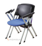 Folding Office Chair with Molded PP Back and Fabric Seat
