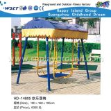 Promotion Outdoor Playground Swing Chair with Shed (HD-14805)