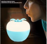 Blow up The Lovely Apple Bedroom Bedside Night Light USB Ambient Light Colorful Dimming LED Rechargeable Desk Lamp
