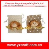 Christmas Decoration (ZY11S270-4-5) Christmas Angel Gift Bag Jute Bag