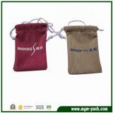 Wholesale Popular Rectangle Drawstring Velvet Bag