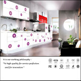 Colour Painting UV with Flower Design Kitchen Cabinet (ZH4854)