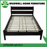 Solid Pine Wooden Double Bed with Low Foot End (WJZ-B85)