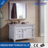 Classical White Solid Wooden Home Chinese Bathroom Vanity