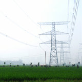 220kv Double Circuit Linear Power Transmission Steel Tower