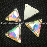 Wholesale Triangle Crystal Rhinestone Flat Back Sew on Crystal (SW-Triangle 16/22mm)