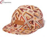Faux Leather Outdoor Camping Hats with Floral (07046)