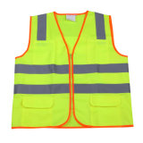 High-Visibility Reflective Safety Vest with Zipper (MW19005)