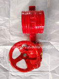 Grooved End Signal Butterfly Valve with Worm Operate