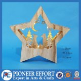 Wooden Christmas Star LED Light with Fox for Christmas Decoration