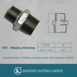 Galvanized Malleable Casting Pipe Fitting Thread 245 Reducing Hexagon Nipples