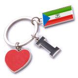 New Custom Metal Souvenir Equatorial Guinea Keyring