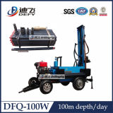 Top Drive Trailer/Crawler Mounted DTH Drill Rig for 100m