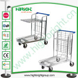 Warehouse Tablet Foldable Platform Trolley Cart