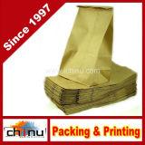 Bagdream Bakery Bags Wax Kraft Paper Bags Tin Tie Tab Lock Bags Brown