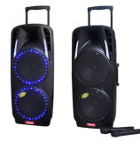 Double 10 Inch Battery Speaker with Microphone Colorful Light F68