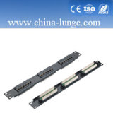 24/48port Twisted Pair Cat5e Patch Panel for Network Structure