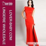 Woman Red Lace Evening Dress (L5087-2)