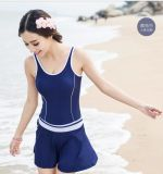 Girl′s One-Piece Swimwear & Beachwear Red Dress