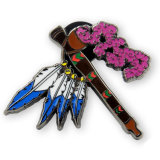 Custom Gorgeous Feather Dragonfly Logo Soft Enamel Lapel Pin