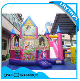 Pink Inflatable Jumping Combo with Slide