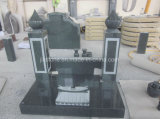 Stone Granite Carving Chinese Style Tombstones with Engraving