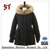 Ladies Winter Outdoor Thick Down Jacket with Fur Collar